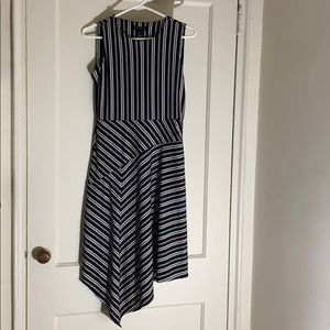 NWOT Banana Republic asymmetrical striped dress